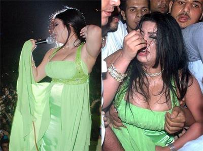 penyanyi perempuan Lebanon yang cun, Haifa Wehbe yang juga bosnya
