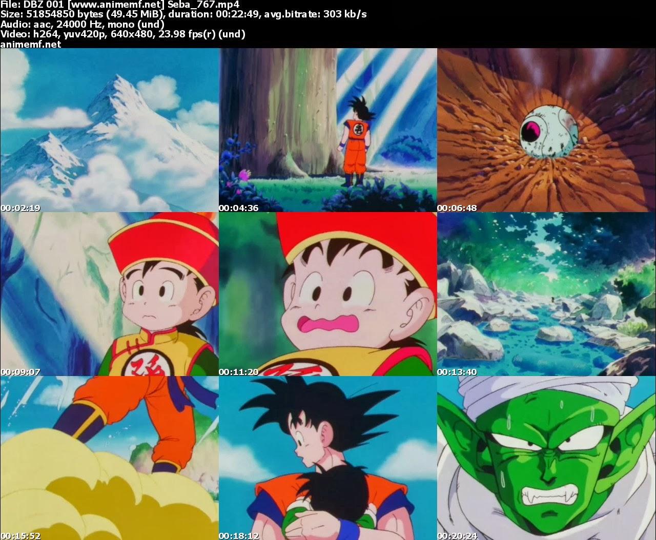 dragon ball z latino mega descarga directa liviano todos los capitulos, episodios, goku, milk, gohan, cell, frezzer,