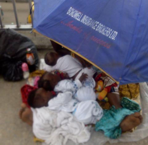 Homeless woman - Lagos