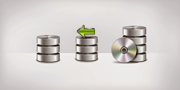 Database Backup Icons PSD