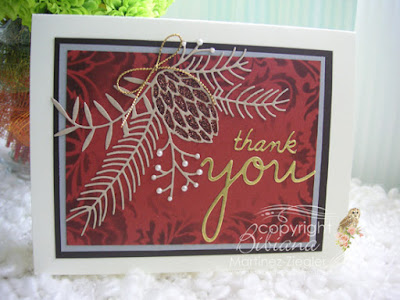 front fall thank you card