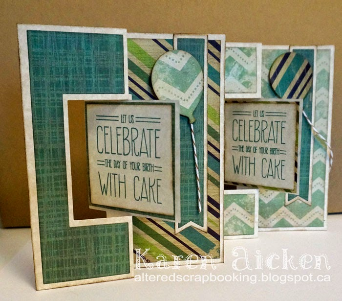 Altered Scrapbooking Masculine Birthday Card Flip Its Duo