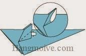 Bước 9: Mở hai lớp giấy ra để tạo tại chuột.