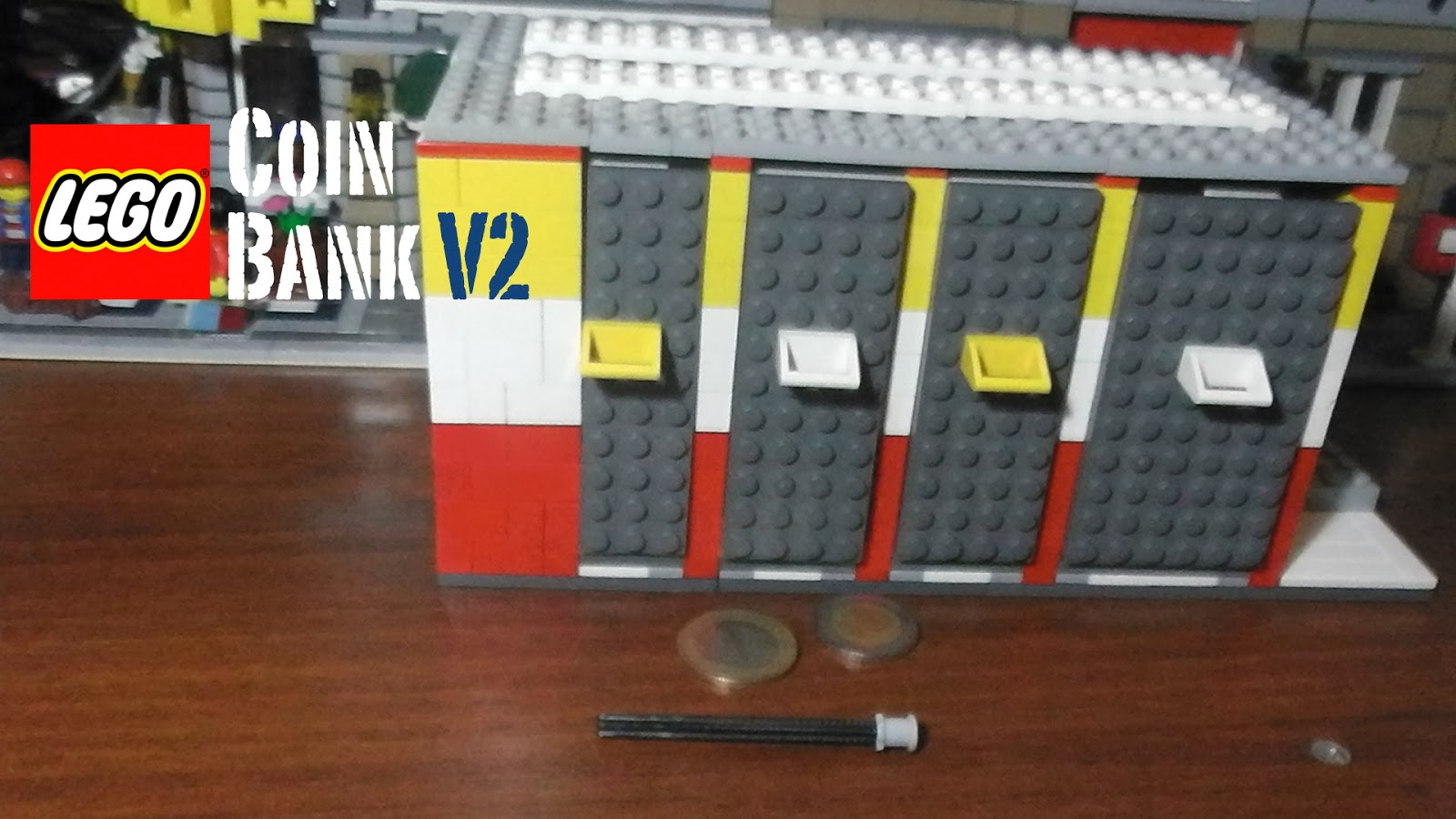 Thelegohow lego machines lego news more lego coin for How to make a coin bank