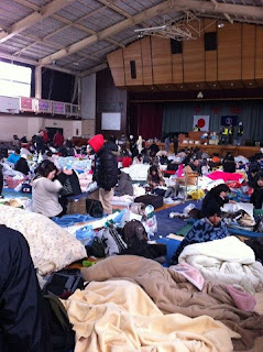 photo WNI Tsunami Jepang penampungan kota sendai