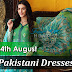 14th August Pakistani Dresses 2015 - Pakistani Independence Day Green Suits - Yaum-e-Azadi Clothes