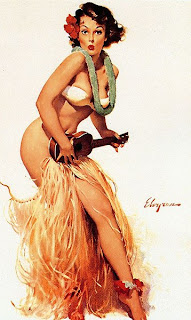 Elvgren Hawaii pinup girl