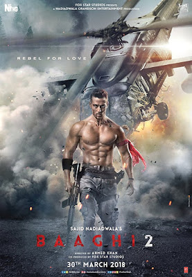 Baaghi 2 2018 Hindi Movie hevc Pre-DVDRip 170Mb