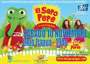 EL SAPO PEPE EN POSADAS!! SABADO 10 NOVIEMBRE 2012