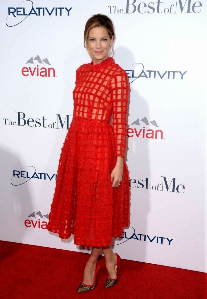 """When it comes to making an impact, Michelle Monaghan seems to know what she's doing. The actress stole the limelight as she walked on the red carpet at the movie premiere of """"The Best of Me"""" at Los Angeles, USA on Wednesday, October 8, 2014."""