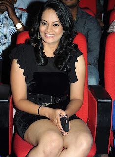 Suja Spicy Thigh Show in Black Dress