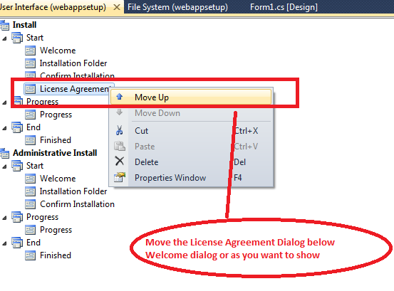 Move dialog in setup