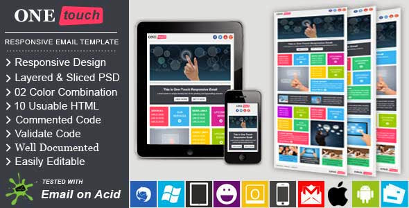 ONETOUCH – Responsive Email Template