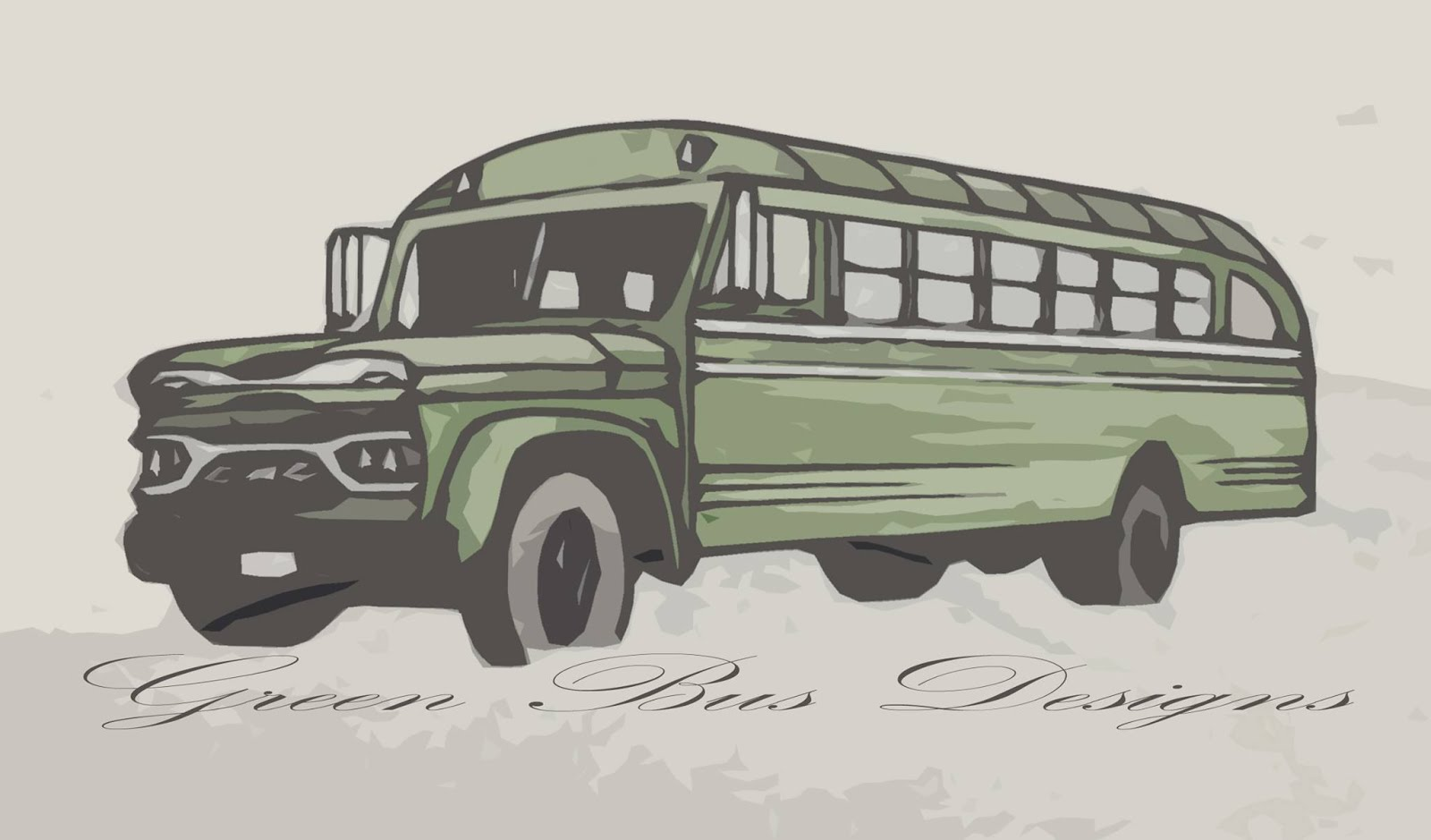 Green Bus Designs Art By Michael Williams