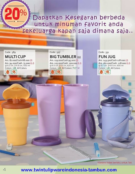 Promo Diskon Tulipware | Nopember - Desember, Cup, Mug, Tea Mug, Fine Mug
