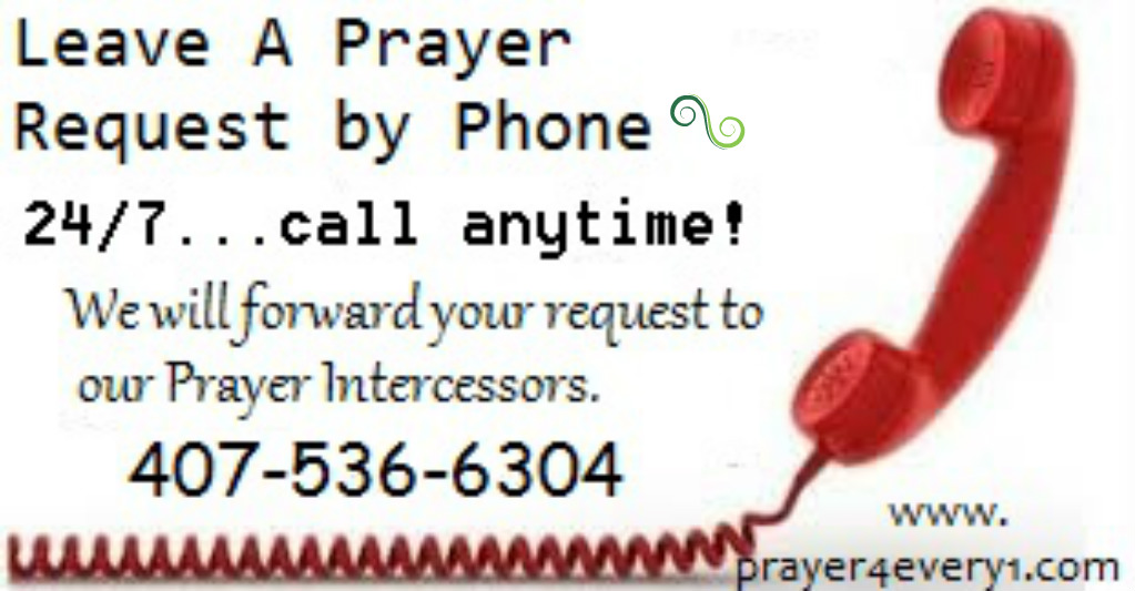 PRAYER REQUEST by Phone