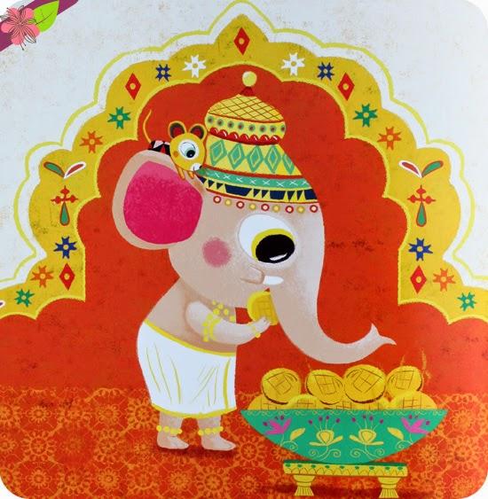 Ganesh le gourmand, de Véronique Massenot et Peggy Nille, éditions l'élan vert