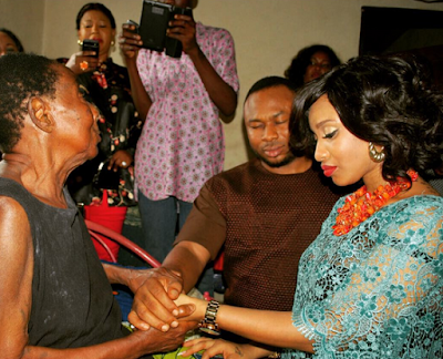 Tonto Dikeh and hubby meet her grandma and family members in Port Hacourt (More photos) - Kemi Filani News