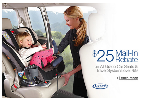 $25 Mail In Rebate on Graco Car Seats & Travel Systems