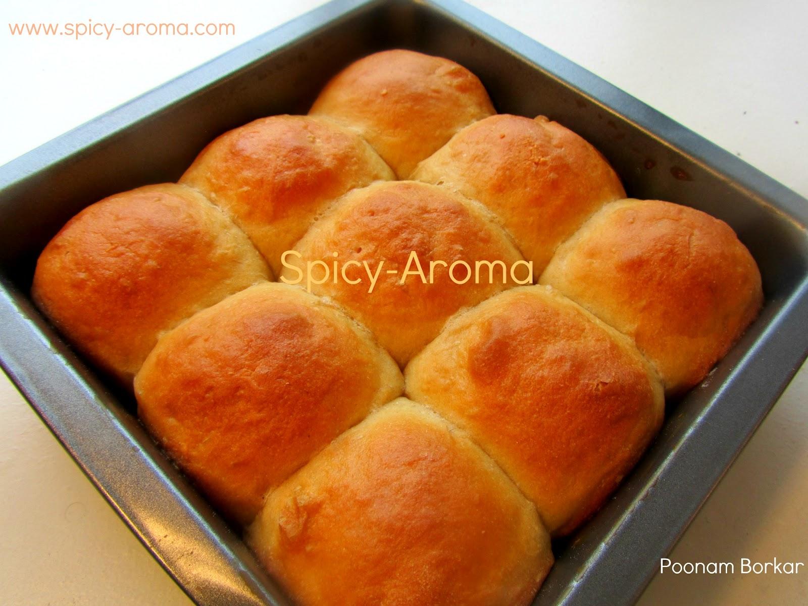 Wheat Pav Recipe / Whole Wheat Dinner Rolls | Spicy-Aroma