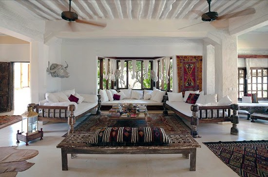 Safari Fusion blog | Lounging around | Arabian exotic style at The Majlis Lamu, Kenya
