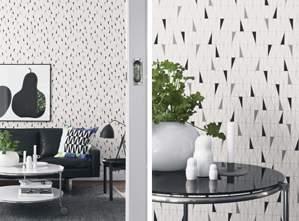 Living in designland dise o papeles pintados escandinavos - Mesa para empapelar ...