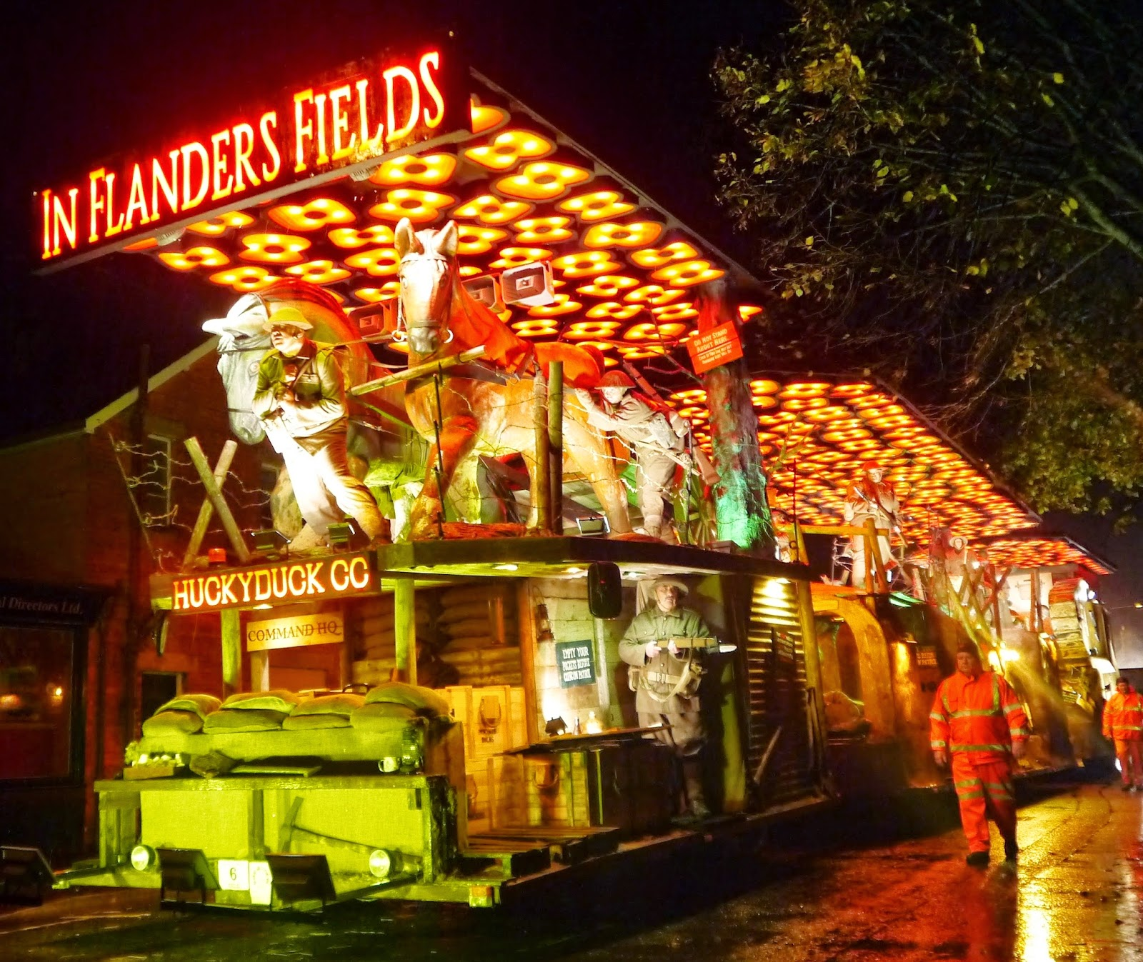 Somerset Carnival Season 2014 - Huckyduck Carnival Club with 'In Flanders Fields'