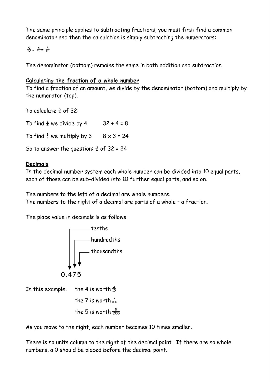 The Terms Referred To With Fractions Etc If Can You Check I Have The Right  Methods