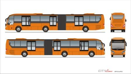 Cityline Articulated by Laksana Intercity Bus