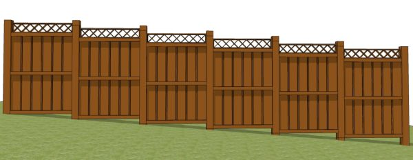 The Fence Line Installing A Fence On A Slope Option 2