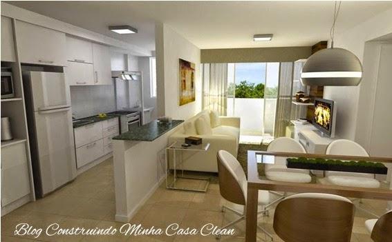 Tv Giratoria Sala E Cozinha ~  Casa Clean 25 Cozinhas Integradas com as Salas! Veja como Decorar