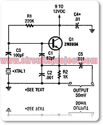 simple colpitts clapp 1 to 20mhz crystal oscillator circuit rh circuitsproject blogspot com