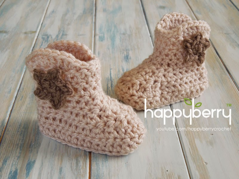 Happy Berry Crochet How To Crochet Cowboy Baby Boots Yarn Scrap