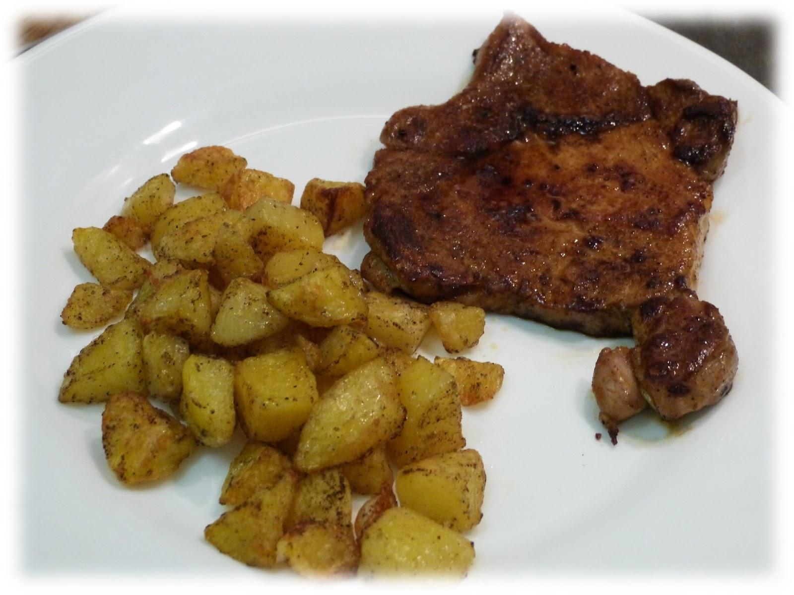 Cuisine campus c te de porc la sauce soja et pommes de terre au four - Cote de porc a la moutarde au four ...
