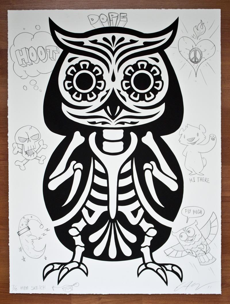 Flying owl stencil - photo#20