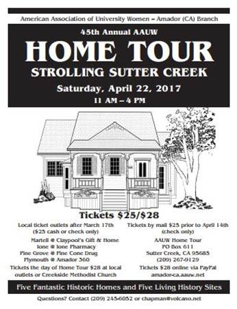 45 Annual AAUW Home Tour - Sat Apr 22
