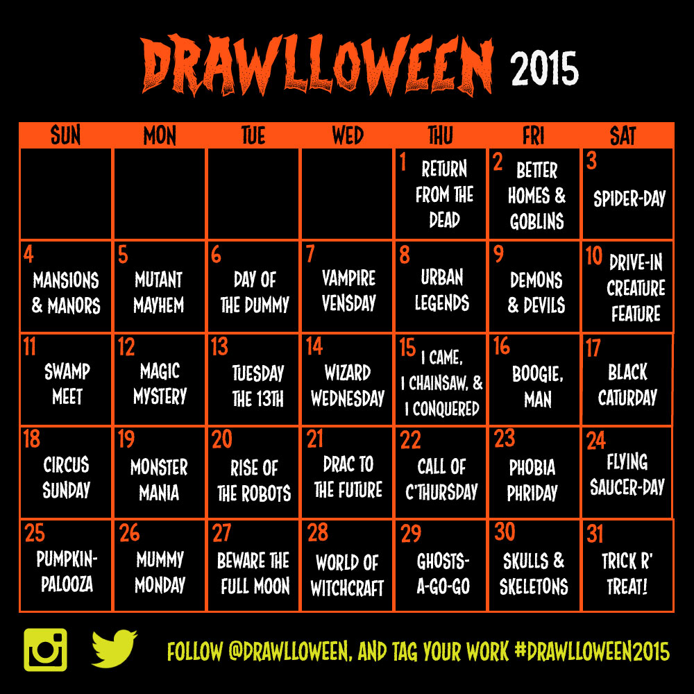 Calendar Drawing Pictures : Drawlloween the calendar is here