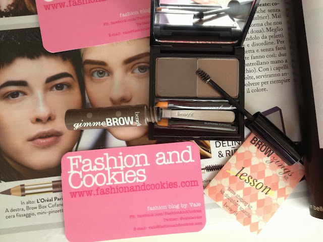 Eyebrows care, Fashion and Cookies, Benefit products for eyebrows