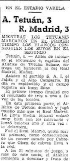 Empate Atlético Tetuán frente al Real Madrid