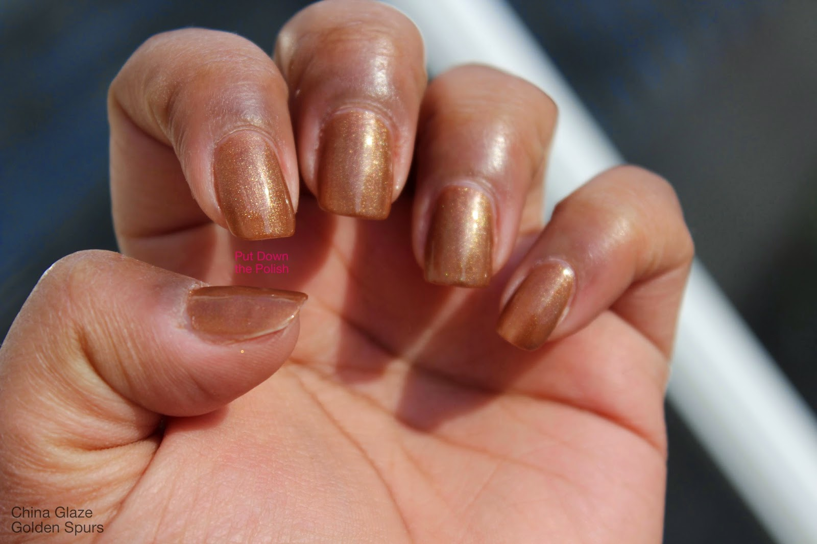 China Glaze Golden Spurs swatch