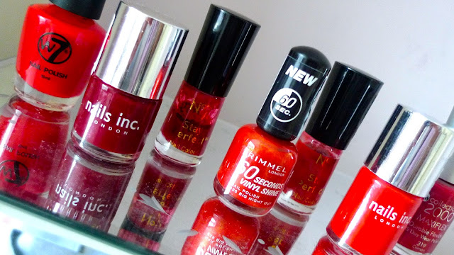 autumn winter red nail polish nails inc, rimmel, no7, W7, collection 2000 halloween christmas