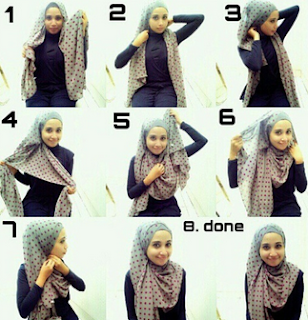 Hijab Segi Empat Casual untuk Lebaran