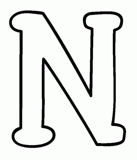 dibujos y colorear: Letras del abecedario la N, la O y la P