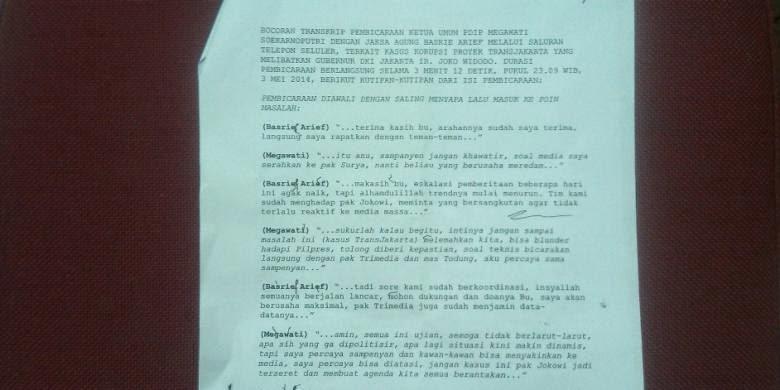 Percakapan Megawati - Basyrief Arief