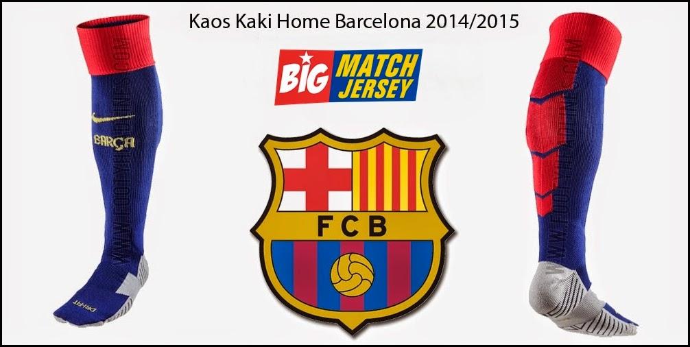 Socks Kaos Kaki GO PI Home Barcelona Kaos Baju Kostum Seragam Bola Grade Ori Player Issue Thailand Terbaru Musim 2014-2015
