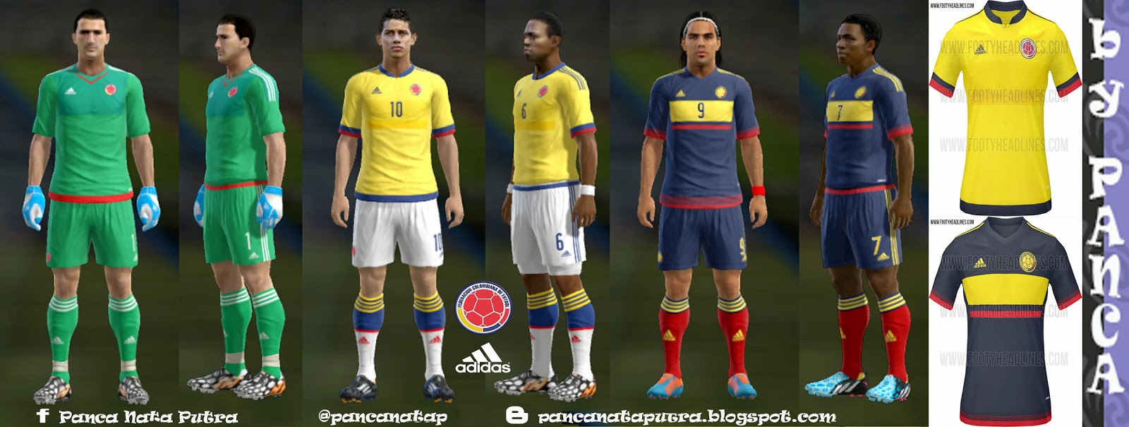 PES 2013 Colombia Kits New Copa America 2015 by panca