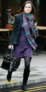 Pippa Middleton in a tartan scarf