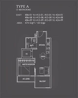 26 Newton 1 bedroom floor plans