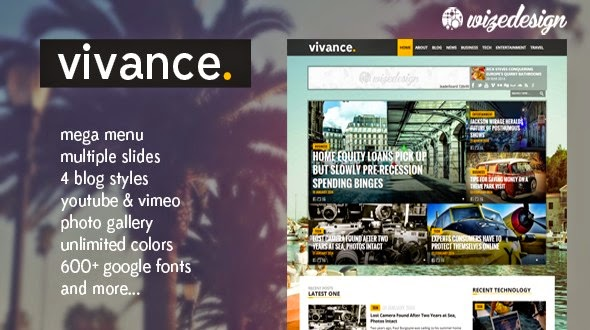 Vivance – Magazine WordPress Theme