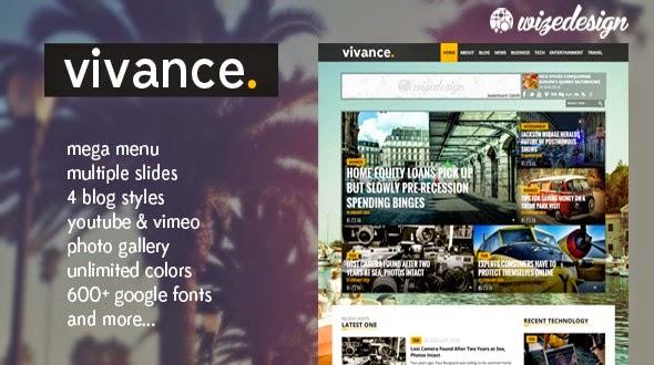 Vivance – Magazine WordPress Theme